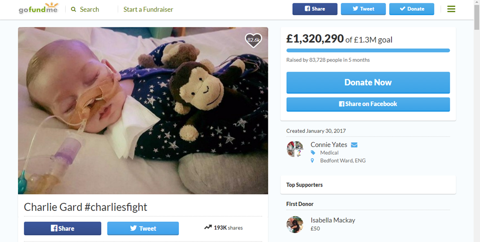 Go Fund Me Page Charlie Gard